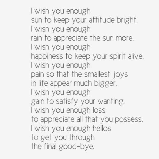 Enough Poem