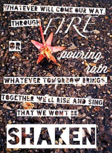 We Won't Be Shaken