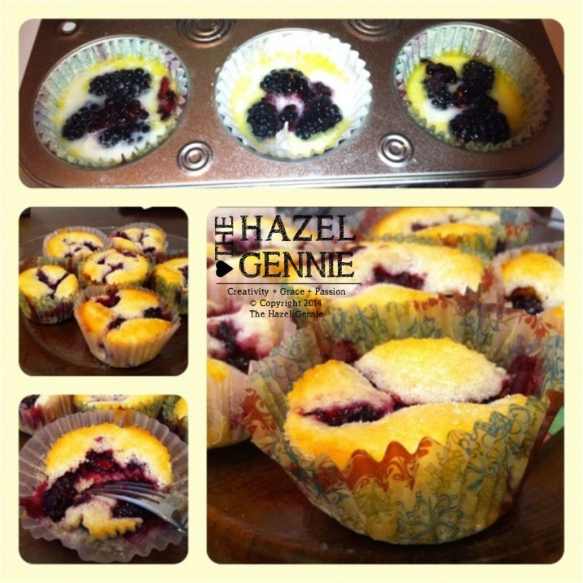 Blackberry Cobbler Cups