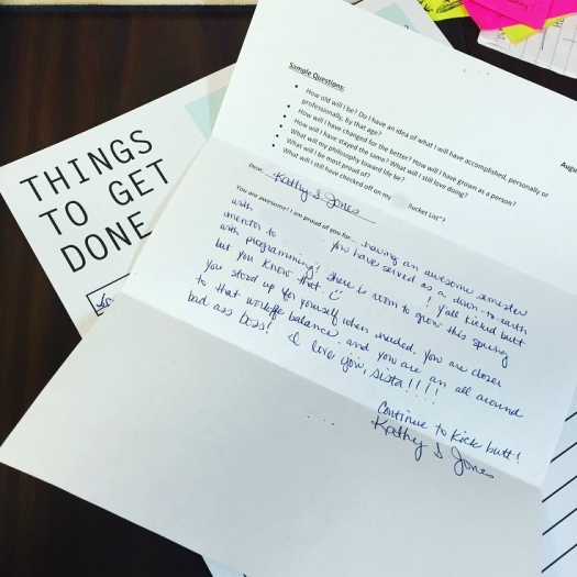 Letter to Self KJ